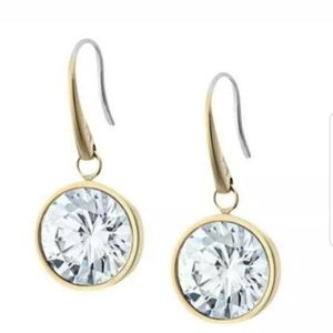 NWT Michael Kors Goldtone CZ Drop Earrings